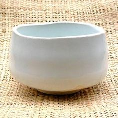 抹茶碗白粉引