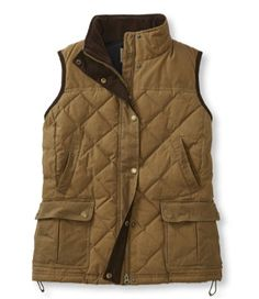 L.L.Bean Upcountry Waxed Cotton Down Vest - LL Bean Intl