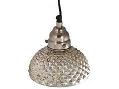 Vintage Inspired Hobnail Mercury Glass Pendant