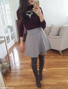 Resultado de imagem para short rounded skirt winter