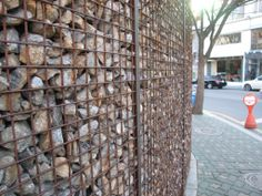 rustic steel fence - Google Search