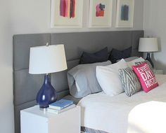 Super simple upholstered panel feature headboard