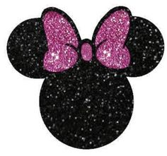 Minnie Mouse Glitter Vinyl Heat Transfer Iron-on Applique for DIY Hot Fix Apparel or Tote Bags Glitter Heat Transfer Vinyl, Glitter Vinyl, Disney Clipart, Bottle Cap Images, Baby Album, Topper, Glitter Background, Iron On Applique, Button Art