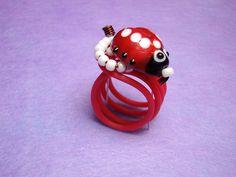 Δαχτυλίδια/Rings : Δαχτυλίδι πασχαλίτσα/Ladybird ring
