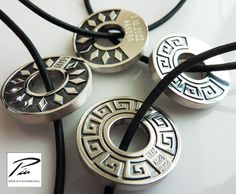 Sterling silver amulets. Amulets, Washer Necklace, Jewelry Design, Sterling Silver, Men, Guys