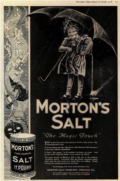 Vintage Morton Salt Ad