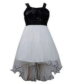 Bonnie Jean 7-16 Wired-Edge Hi-Low-Hem Dress