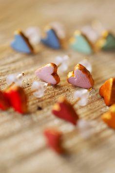 DIY: love heart earrings