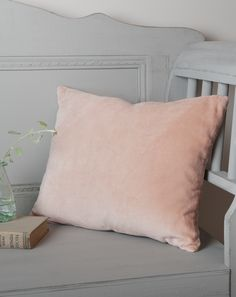 Pink blush velvet and linen cushion from cox and cox | 5 ways to use velvet in your home