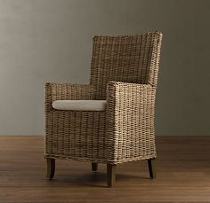 Wicker Dining Chair From Restoration Hardware.