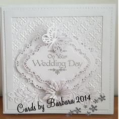 Embossing folder, flowers and dies by Sue Wilson Sentiment from the Baroque collection- sentimentally yours Anniversary Cards, Wedding Anniversary, Wedding Day Cards, Sue Wilson Dies, Diy Cards, Handmade Cards, Sympathy Cards, Embossing Folder, Projects To Try