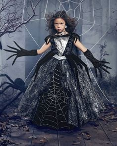 spider queen girls costume - ours exclusively - Along came a spider . . . As queen of all things creepy-crawly, you strike fear among the squeamish. #halloween #girlscostumes #scary