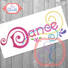 Dance Swirl Design For Machine Embroidery INSTANT DOWNLOAD by SewEmbroidable on Etsy