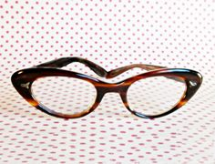195060s Tortoise Shell Eyeglasses Frames by TracysVintageJewelry