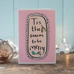 Tis the season to be merry  a christmas card by TheMoobaacluckShop