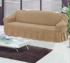 NAPÍNACÍ POTAH NA POHOVKU třímístný - světle hnědý Outdoor Furniture, Outdoor Decor, Bassinet, Ottoman, Couch, Chair, Bed, Home Decor, Crib