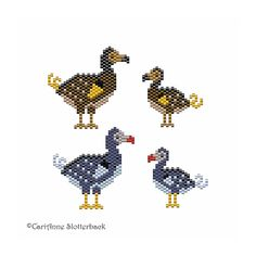 Dodo pattern pack peyote stitch pattern par NaturalWondersbyCari