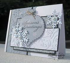 Nice holiday greeting in pale blue and gray.