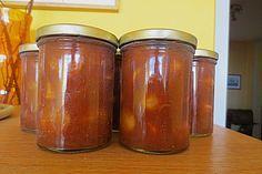 Currywurst (Rezept mit Bild) von Rosi1950 | Chefkoch.de Sauce Barbecue, Bbq, Ketchup, Chutney, Konservierung Von Lebensmitteln, Mayonnaise, Olives, Salsa, Preserving Food