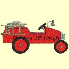 camion de pompier à broder Wooden Toys, Illustrations, Portrait, Car, Kids, Fire Trucks, Pattern, Wooden Toy Plans, Young Children