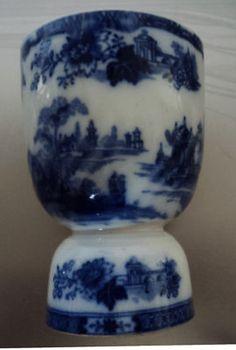 Vintage Flow Blue Egg Cup Royal Doulton Madras Pattern