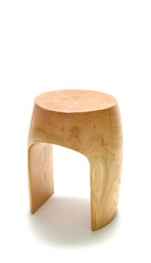 Wood and ceramic stools and side tables, hand-carved in the Hudson Valley.