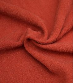 Tissu Lin / viscose - rouge Tomette Sweatshirts, Tissue Types, Screentone, Red, Bees, Hoodies, Trainers, Plush, Sweater
