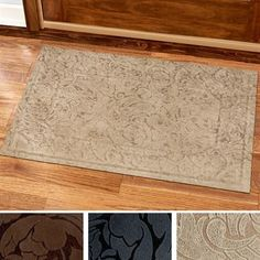 Your guests will always remember the trendy Scroll Impressions Indoor Doormat. The upholstery-grade nylon Microfibres(TM) fabric is anti-microbial. Indoor Door Mats, Indoor Doors, Doormat, Upholstery, Rugs, Fabric, Home Decor, Farmhouse Rugs, Tejido