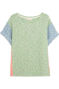 Paul & Joe|Argovie cotton-blend honeycomb-knit sweater|NET-A-PORTER.COM