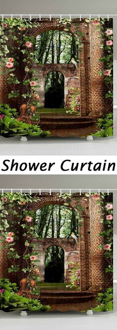 50% OFF Brick House Shower Curtains,Free Shipping Worldwide.