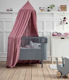 Did you know that Sebra makes these beautiful vintage style canopies ? They exist in dusty pinkgrey or blue Find them at the @kinder_raeume webshop SEBRA INTERIOR #kidsinteriors_com - - - #kidsinteriors #kidsinterior #nursery #nurseryinspo #nurserydecor #canopy #chambrebebe #girlnursery #girlsdecor #kidsdecor #decorforkids #barnerom #kidsroomdecor #kidsroominspo #barnrum #kinderkamer #kinderzimmer #chambreenfant #kidsdesign #babyinspo