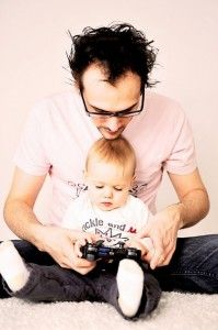 When my boy will turn to 1 year old, i still let him test my PS3 !
