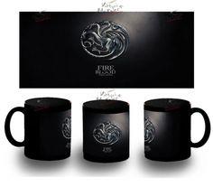 Taza Negra Casa Targaryen House Black Mug Tazza Tasse Coupe Mug Game Of Thronesg - Bekiro