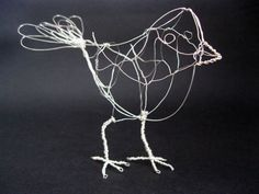 Wire bird Jay Jay wire sculpture fun home decor by MyWingedFriends