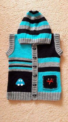 Hanımlar Bu Kadar Örgü Ördükten Sonra Kalan İplerimiz Muhakkak Vardır.Onları Değerlendirme Zamanı 2-3 yaş (alıntıdır) Malzemeler: Siyah Bebe Yünü Gri bebe yünü Mavi