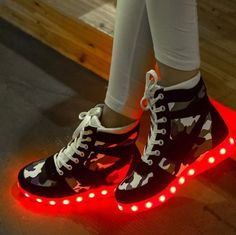 Buy Glowing Platform Led Shoes Camouflage Simulation Light Up Shoes For Adults Luminous Women Winter Shoes Add Cotton at Wish - Shopping Made Fun Glow Shoes, Women's Shoes, Light Up Shoes, July 24, Wish Shopping, Winter Shoes, Camouflage, Chloe, Anime Art