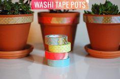 DIY washi tape pots