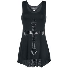 Gothic Cross Top por Gothicana by EMP