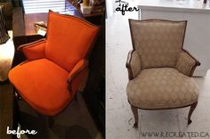 Vintage chair reupholstered by Lindsey Gerrish, Recreated.