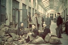 Lodz, Poland, A storage area in a factory in the ghetto.