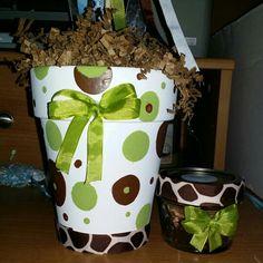 Baby shower terracotta homemade ribbon