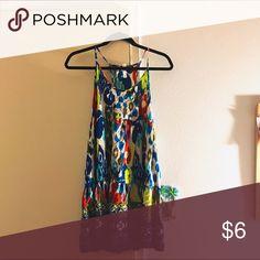 Patterned Sun Dress Vibrant sun dress in perfect condition. Never worn (: Xhilaration Dresses Midi