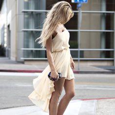 Chiffon Wrap Hi Lo Dress by Love