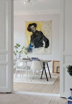 my scandinavian home: A pretty, white Swedish apartment