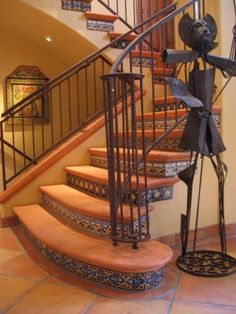 mediterranean staircase by Latin Accents, Inc.