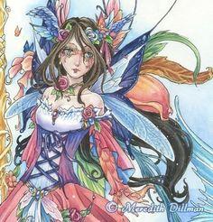Masquerade ball fairy print mermaid art winged by meredithdillman, $16.00