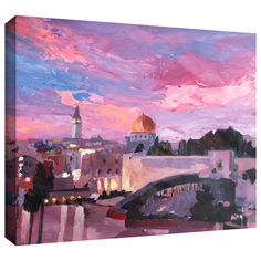 Look what I found on Wayfair! Wall Decor in pink of Jerusalem!! 😍😍😍