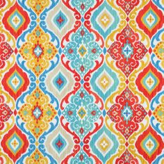 Items similar to Richloom Outdoor Fresca Fiesta Fabric - By the Yard on Etsy Burlap Fabric, Ikat Fabric, Orange Fabric, Blue Fabric, Talavera Pottery, Kitchen Wallpaper, Textiles, Home Decor Fabric, Outdoor Fabric