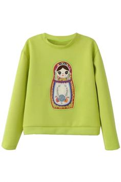 The Graphic Sweatshirt has a delicate doll pattern at front, crew neck, and long sleeves. Throw it on over leggings and printed slide sneakers, or team it up with shortalls if you wanna look too cute for y Fashion Sweatshirts, Printed Sweatshirts, Hoodies, Delicate, Graphic Sweatshirt, Women's Fashion, Street Style, Illustrations, Dreams