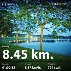 Recent activity! - 8.45 km Running #health #sport #runstagram  #runstagrammer  #run #running #runkeeper #runnerscommunity #runforabettertomorrow #sgrunners #instarunner  #worlderunners #run #nikerun #nikeplus #loverunning #plantarfasciitis #justrunlah  #bedokreservoir #bedokreservoirrun